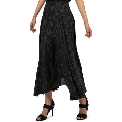 Religion Black Flowy Maxi Skirt