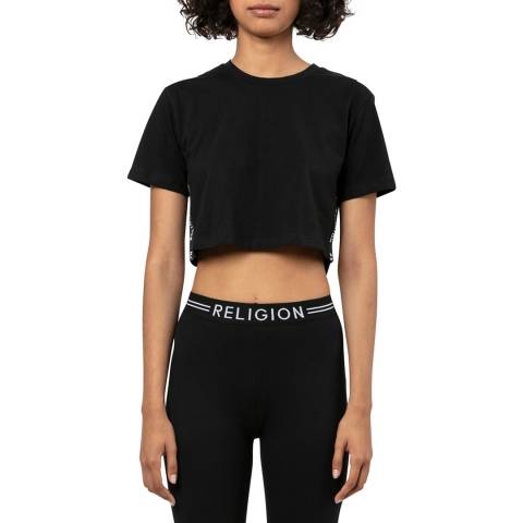 Religion Black Cropped T-shirt