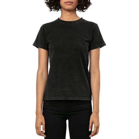Religion Washed Black Crew Neck T-shirt