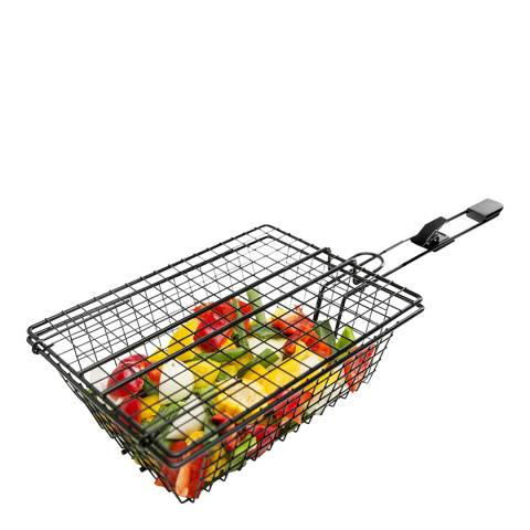 Sagaform BBQ Grill Basket with Black Handle