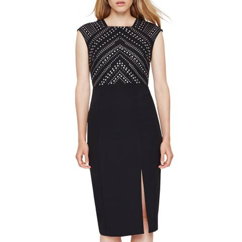 Damsel In A Dress Black Talin Stud Dress