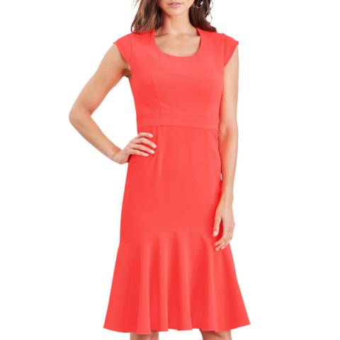 Damsel In A Dress Coral Abree Structured Dress