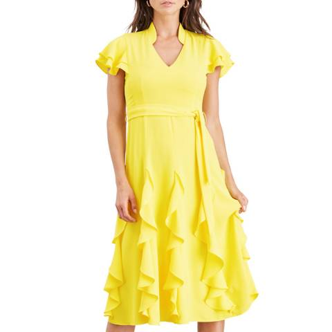 Damsel In A Dress Soft Yellow Cemile Frill Dress