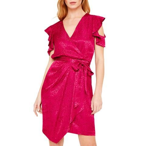 Damsel In A Dress Magenta Lexi Leopard Dress