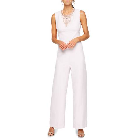 Damsel In A Dress Blush Jimena Bead Jumpsuit
