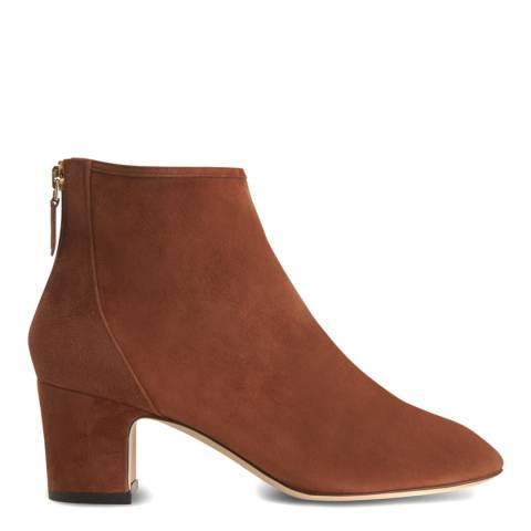 L K Bennett Chestnut Suede Alyss Ankle Boots