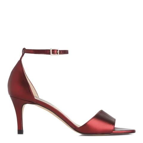 L K Bennett Bordeaux Metallic Omya Heeled Sandals