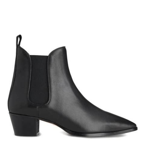 L K Bennett Black Calf Leather Becky Ankle Boots
