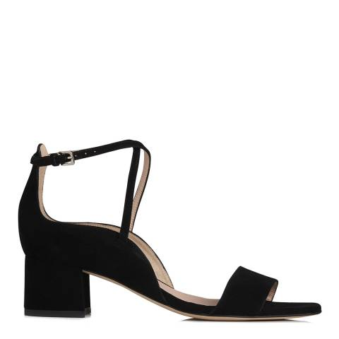 L K Bennett Black Suede Dina Formal Heeled Sandals