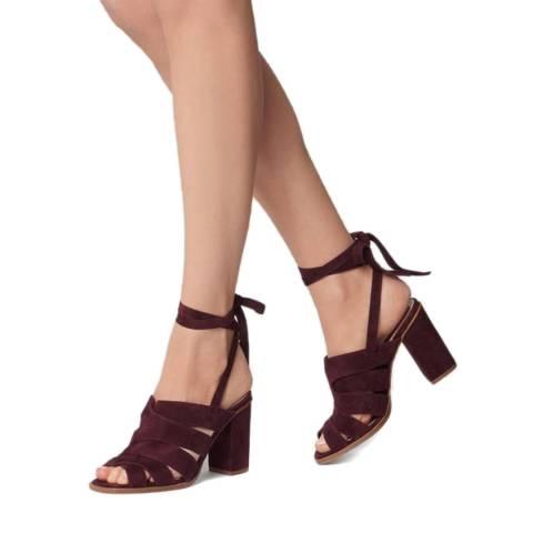 L K Bennett Red Damson Suede Seline Formal Sandals