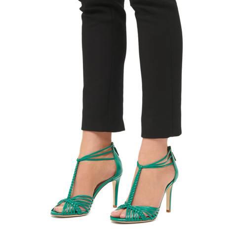 L K Bennett Green Mint Leaf Leather Dorothy Formal Sandals