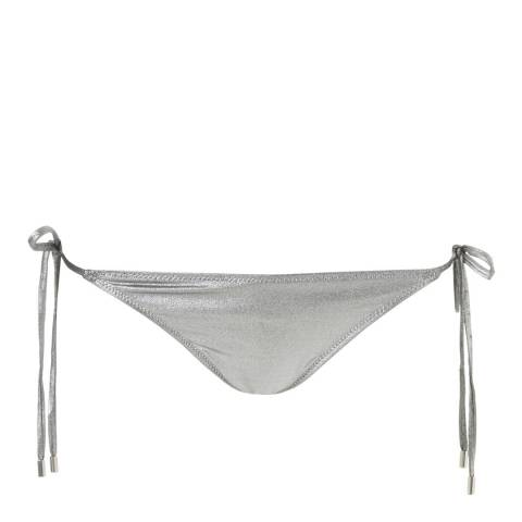 Melissa Odabash Silver Miami Tie Side Bottom