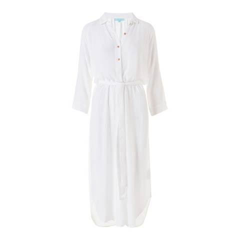 Melissa Odabash White Alesha Long Shirt Dress