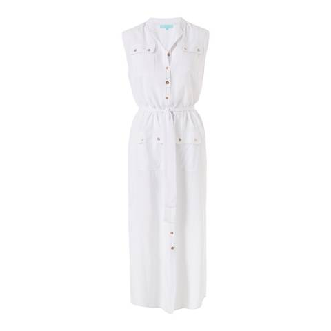 Melissa Odabash White Charlene Long Shirt Dress