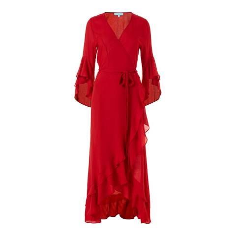 Melissa Odabash Red Cheryl Wrap Dress