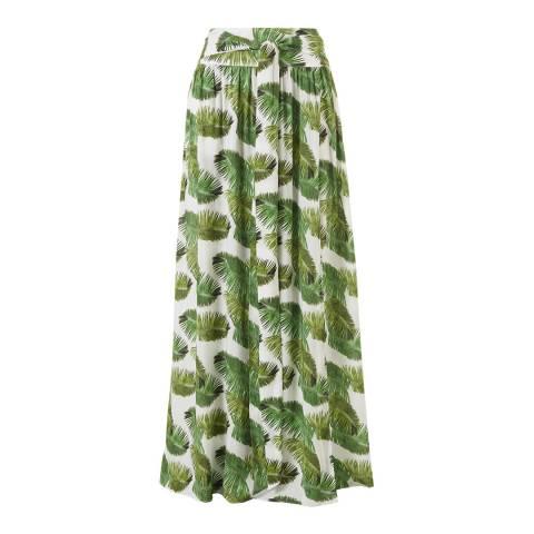 Melissa Odabash Palm White Elsa Maxi Skirt