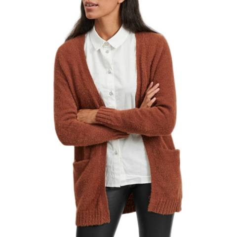 VILA Burnt Orange Open Knit Cardigan
