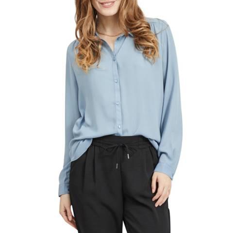 VILA Ashley Blue Loose Fit Shirt