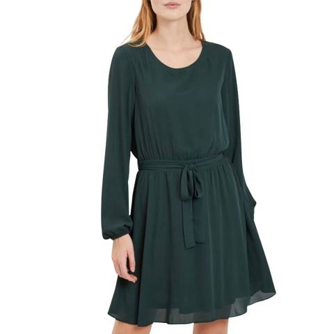 VILA Dark Green Long Sleeve Mini Dress