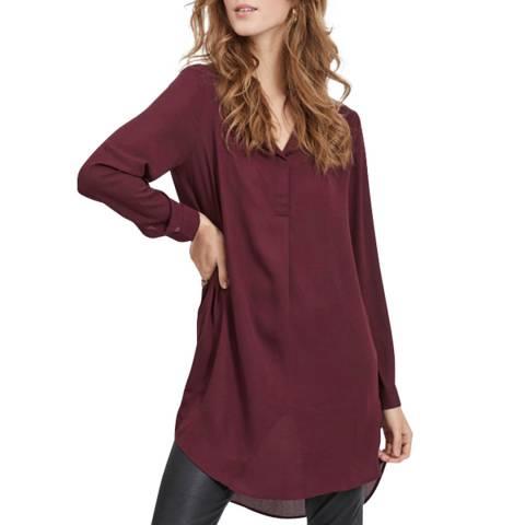 VILA Burgundy Long Sleeve Tunic