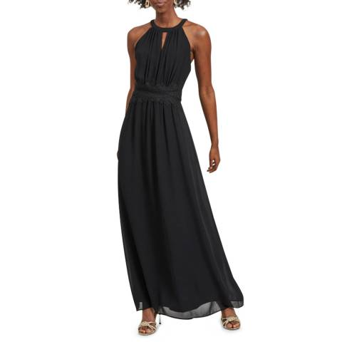 VILA Black Long Sleeve Maxi Dress