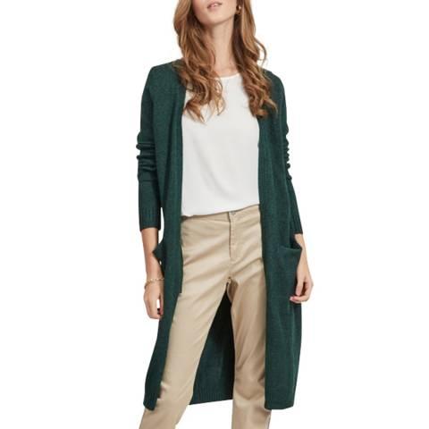 VILA Dark Green Long Knit Cardigan