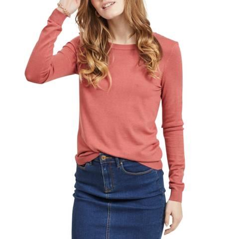 VILA Dusty Cedar Long Sleeve Knit Top