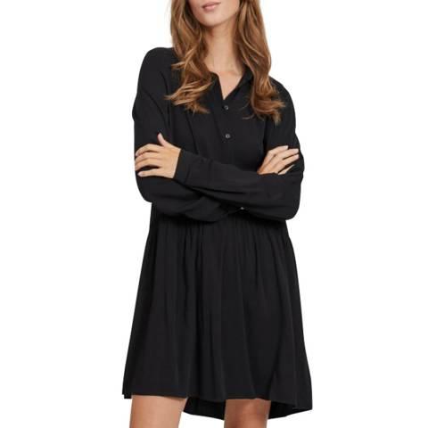 VILA Black Button Front Mini Dress