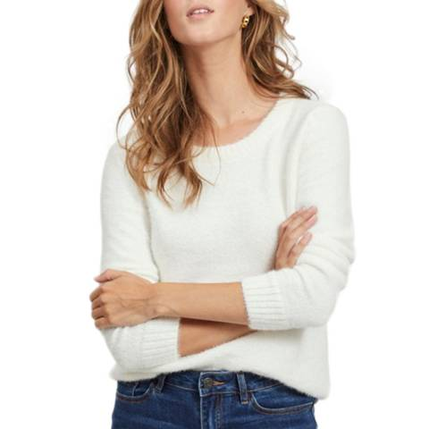 VILA White Long Sleeve Knit Top