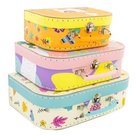 Ulysse Set of 3 Llama Suitcases