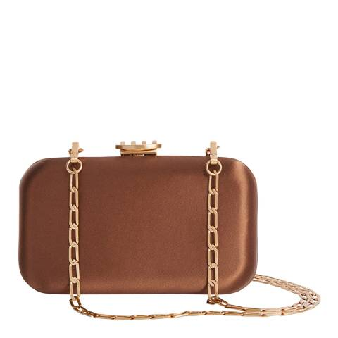 Reiss Brown Nina Box Clutch