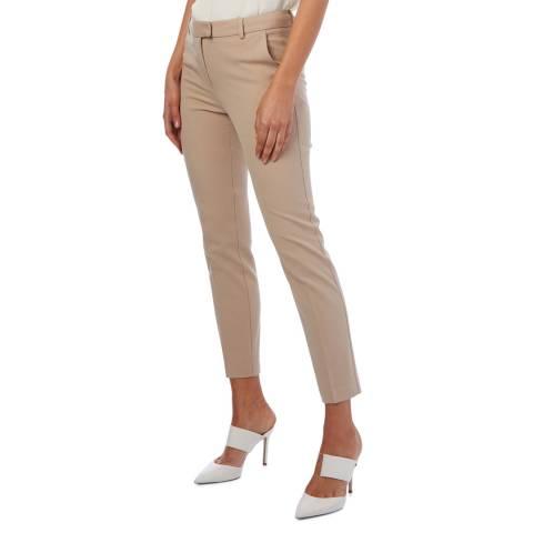 Reiss Beige Jess Slim Stretch Trousers