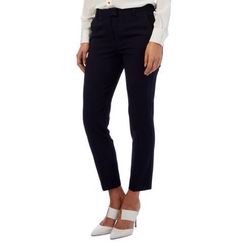 Reiss Navy Jess Slim Stretch Trousers