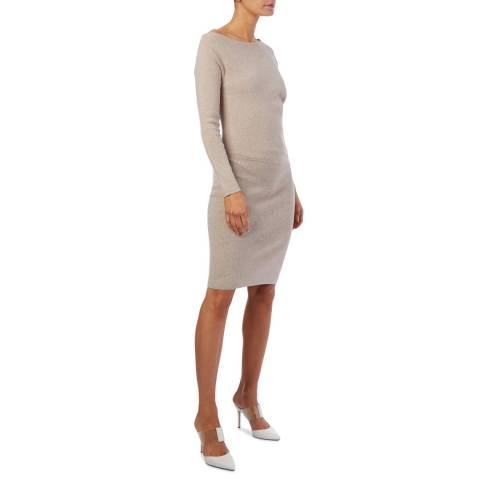 Reiss Neutral Claudia Knitted Dress