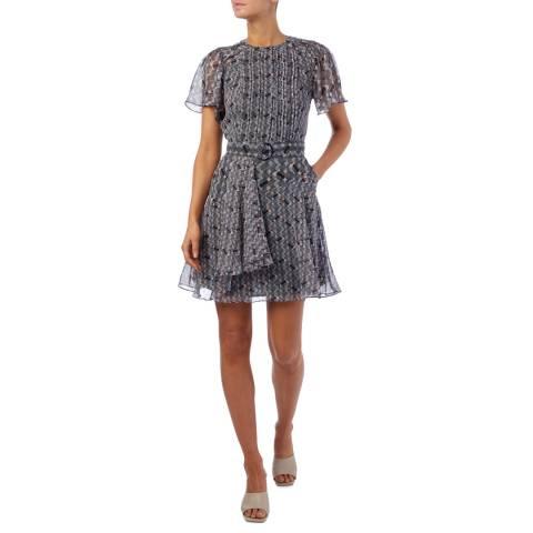 Reiss Multi Mildred Flippy Dress