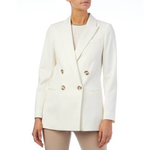 Reiss White Austin Wool Blend Blazer