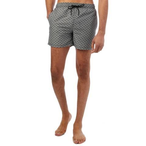 Reiss Navy Funks Printed Swim Shorts
