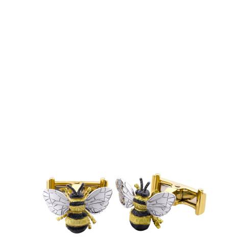 Theo Fennell 18ct Yellow Gold Black Bee Cufflinks