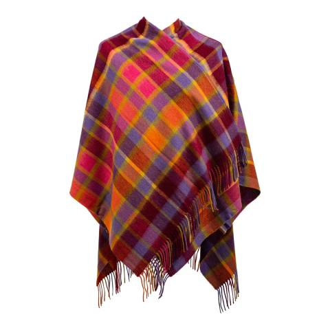 Edinburgh Lambswool Fuchsia Artillery Check Mini Cape