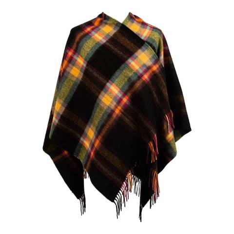 Edinburgh Lambswool Ginger Deco Check Mini Cape