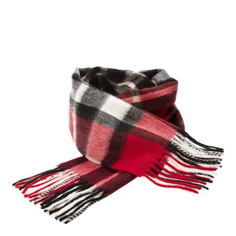 Edinburgh Lambswool Thomson Red Exploded Scotty Lambswool Scarf