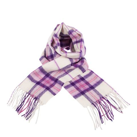 Edinburgh Lambswool Optic Lilac Thomson Lambswool Tartan Scarf