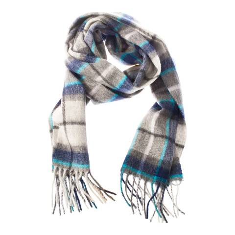 Edinburgh Lambswool Grey Tweed Check Lambswool Tartan Scarf