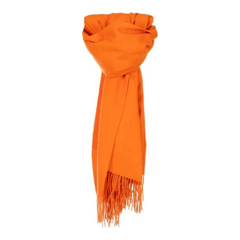 Edinburgh Lambswool Orange Plain Lambswool Stole
