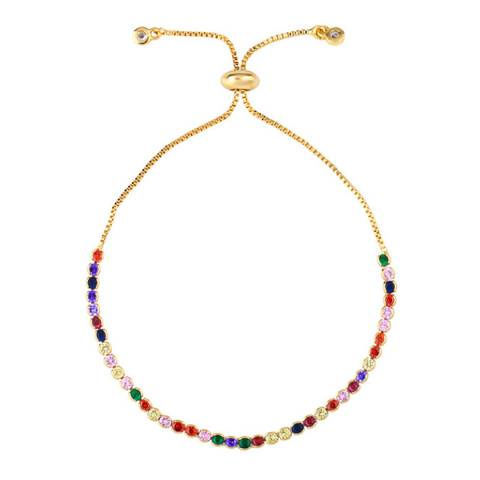 Liv Oliver 18K Gold Plated Multi Adjustable Bracelet
