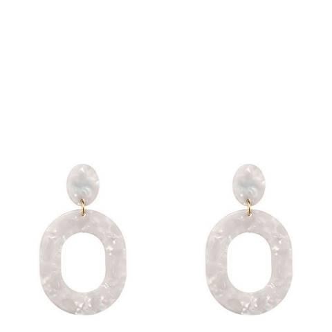 Liv Oliver White Shell Boho Earrings