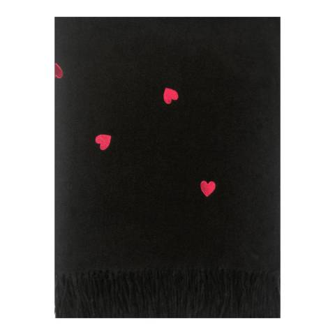 JayLey Collection Black Heart Cashmere Blend Wrap