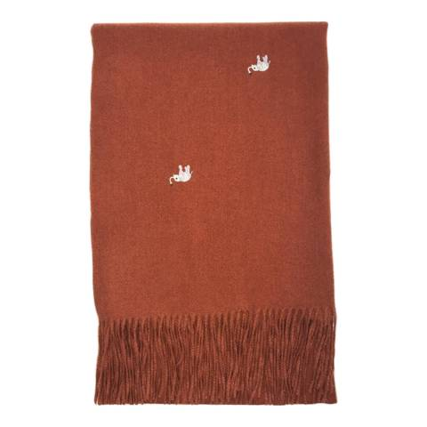 JayLey Collection Red Elephant Cashmere Blend Wrap
