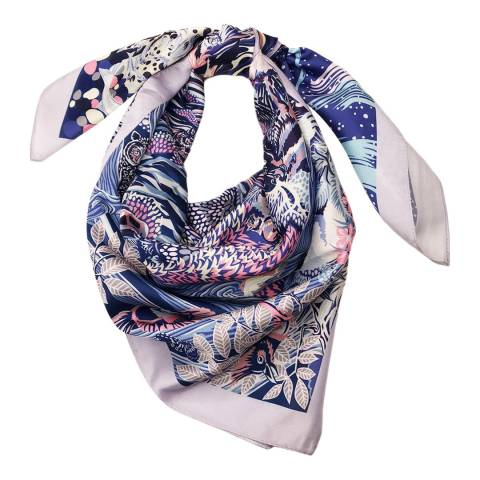 JayLey Collection Lilac/Pink Silk Blend Scarf