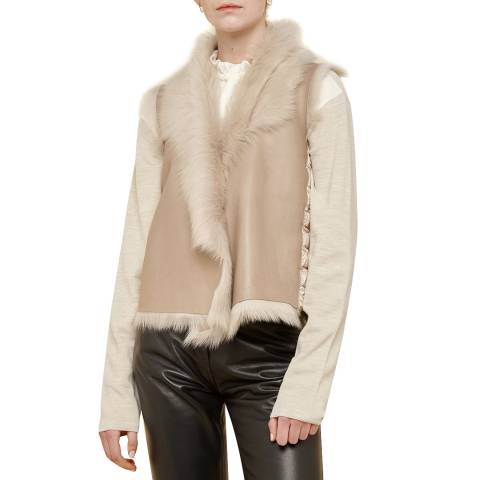 Gushlow & Cole Sand Down and  Shearling Rough Cut Gilet